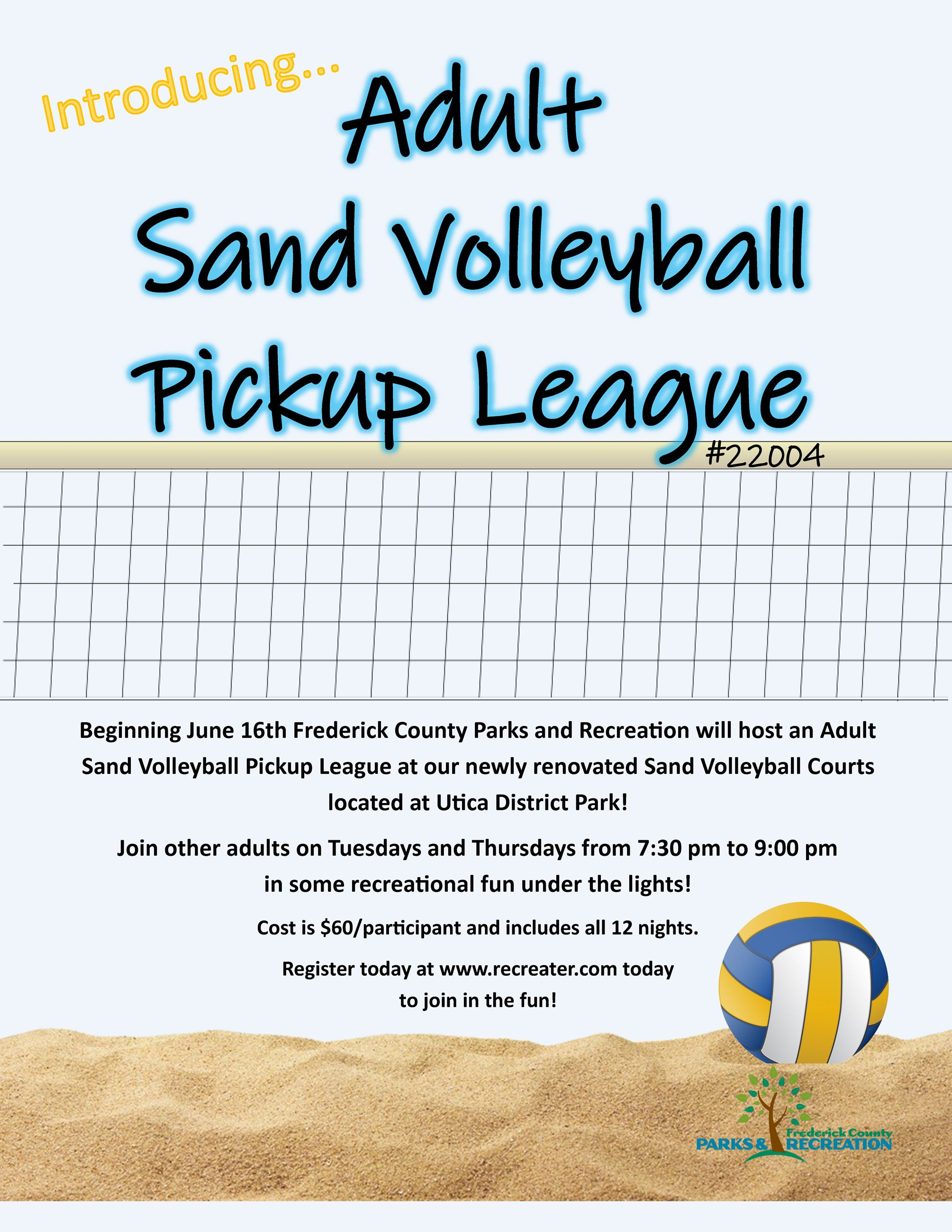 Sand Volleyball pickup flyer